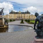 Blick vom Schlossgarten auf das Schloss Drottningholm