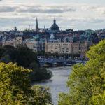 Blick auf Stockholm vom Freilichtmuseum Skansen