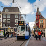 Die Straßenbahnlinie 5 in Amsterdam