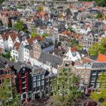 Ausblick auf Amsterdam vom Turm Westertoren in der Kirche Westerkerk