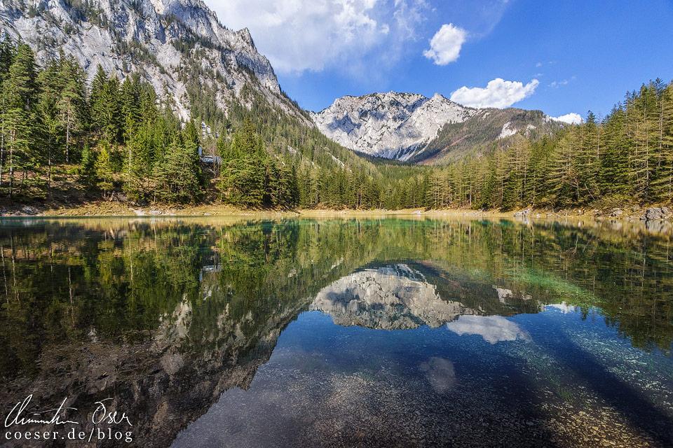 Grüner See und Gipfel der Meßnerin