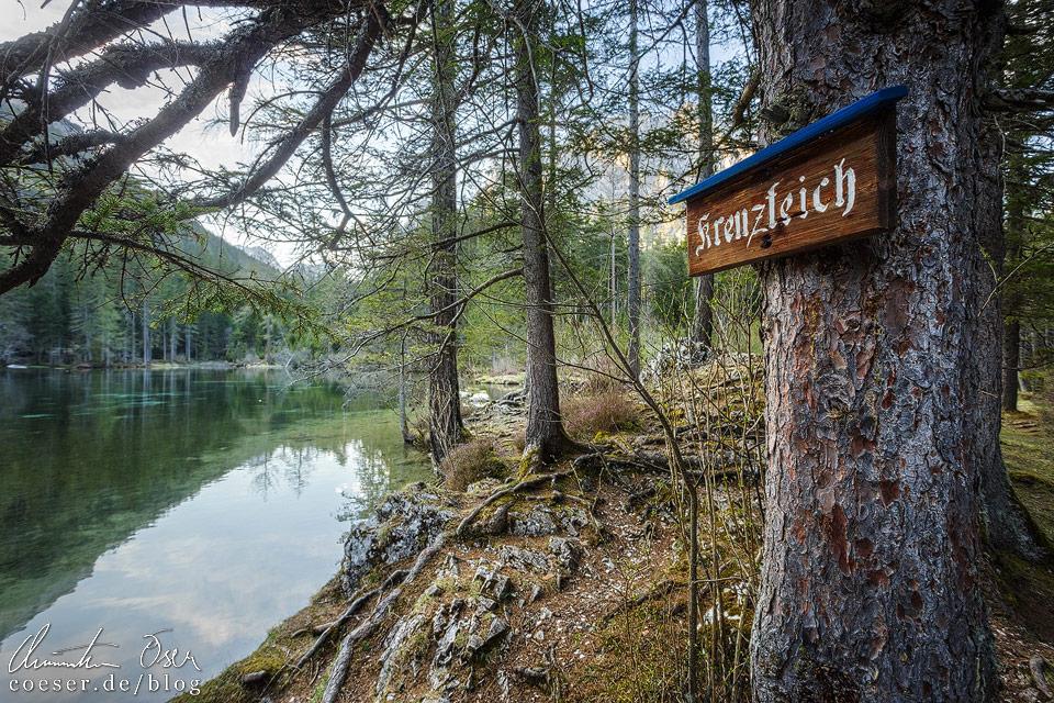 Der Kreuzteich unweit des Grünen Sees