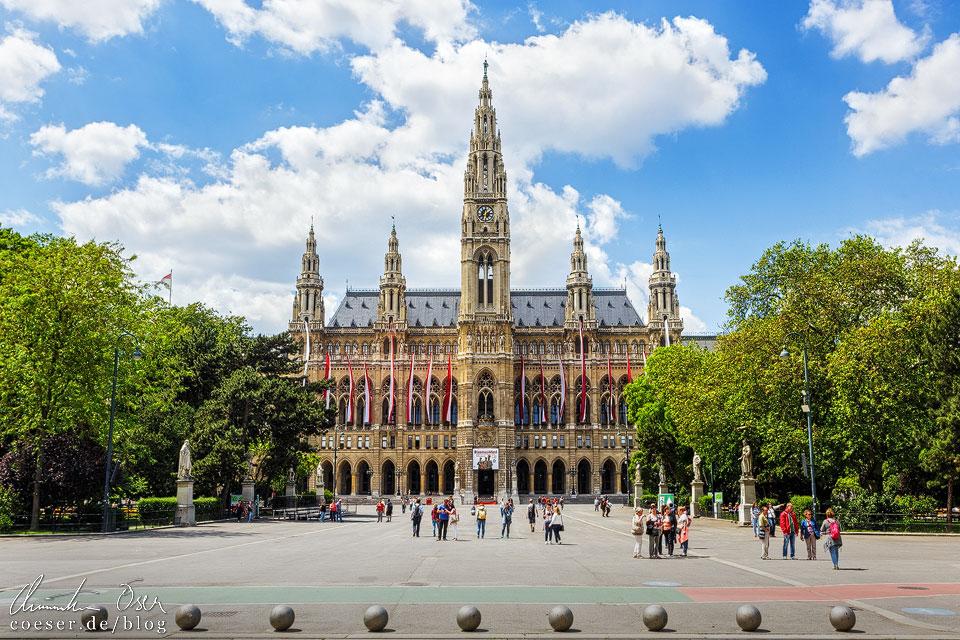 Leerer Rathausplatz vor dem Wiener Rathaus