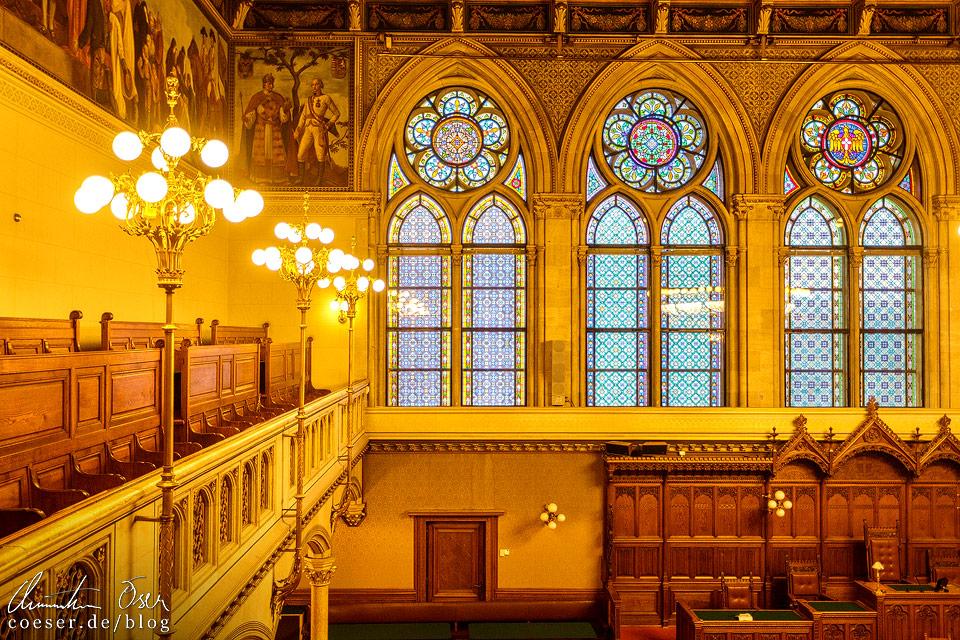 Gemeinderatssitzungssaal im Wiener Rathaus