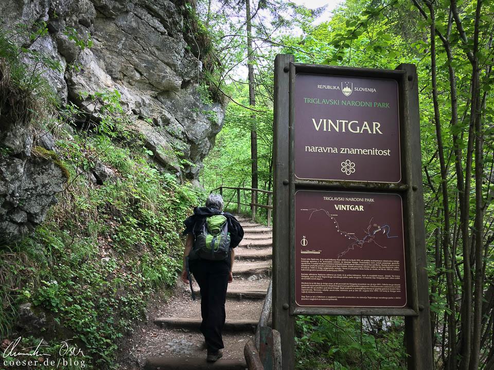 Eingang zur Vintgar-Klamm