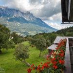 Blick vom Balkon des Bauernhofs Lechnerhof