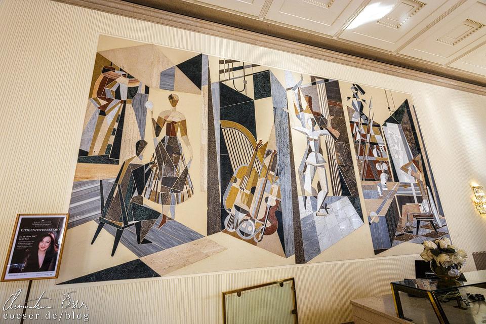 Intarsien im Marmorsaal in der Wiener Staatsoper