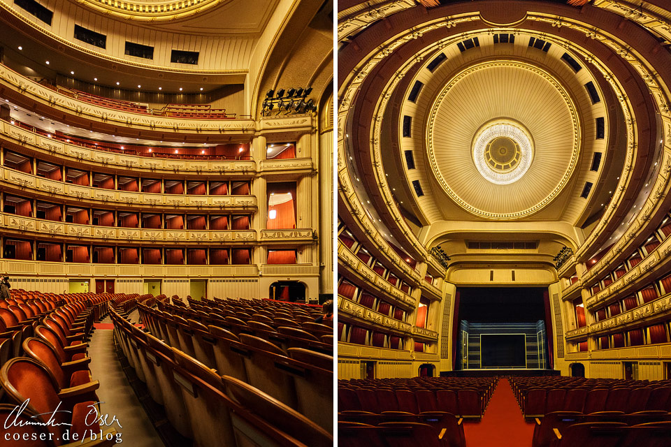 Zuschauersaal in der Wiener Staatsoper