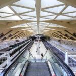 Die Metro-Station Alameda, entworfen von Architekt Santiago Calatrava