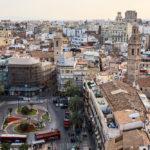 Aussicht vom Glockenturm El Micalet auf den Plaza de la Reina