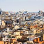 Aussicht vom Glockenturm El Micalet auf Valencia und die Stadt der Künste und Wissenschaften