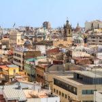 Aussicht von den Türmen Torres de Quart auf Valencia