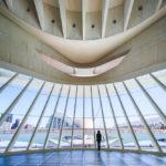 Innenansicht des Opernhauses Palau de les Arts Reina Sofía in der Stadt der Künste und Wissenschaften