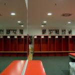 Kabine des FC Bayern München in der Allianz Arena
