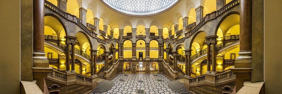 Innenansicht des Justizpalasts in München