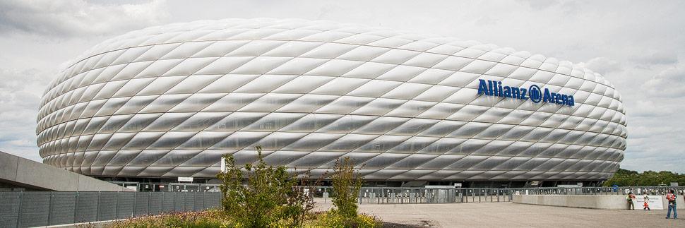 Außenansicht der Allianz Arena in München