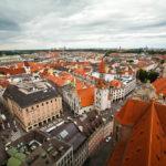 Ausblick vom Alten Peter auf die Stadt München und das Alte Rathaus