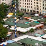 Ausblick vom Alten Peter auf den Viktualienmarkt