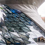 Markante Architektur der BMW-Welt