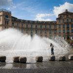 Der Springbrunnen auf dem Karlsplatz/Stachus