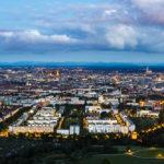 Blick vom Olympiaturm in Richtung Münchner Innenstadt