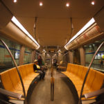 Innenansicht einer neuen U-Bahn-Garnitur in München