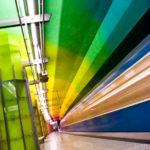 Moderne Architektur in der U-Bahn-Station Candidplatz in München