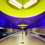 Moderne Architektur in der U-Bahn-Station Westfriedhof in München