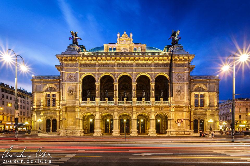 Frontalansicht der Wiener Staatsoper
