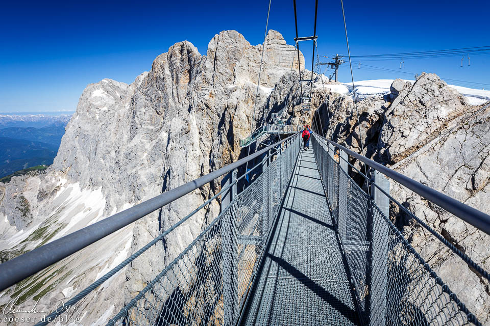 Hängebrücke in der Dachstein-Gletscherwelt