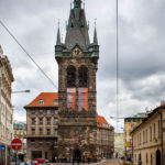 Der Heinrichsturm (Jindřišská věž), in dessen Glockenturm sich ein Restaurant befindet