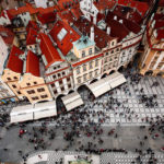Blick vom Turm des Altstädter Rathauses auf den Altstädter Ring