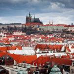 Blick vom Turm des Altstädter Rathauses auf die Prager Burg