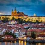 Blick vom Altstädter Brückenturm auf die Prager Burg