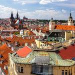 Blick vom Pulverturm auf die Altstadt und die Prager Burg