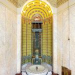 Der Mosaikbrunnen im Božena-Němcová-Salon im Prager Gemeindehauses Obecní dům