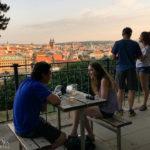 Ausblick vom Biergarten Letná auf Prag