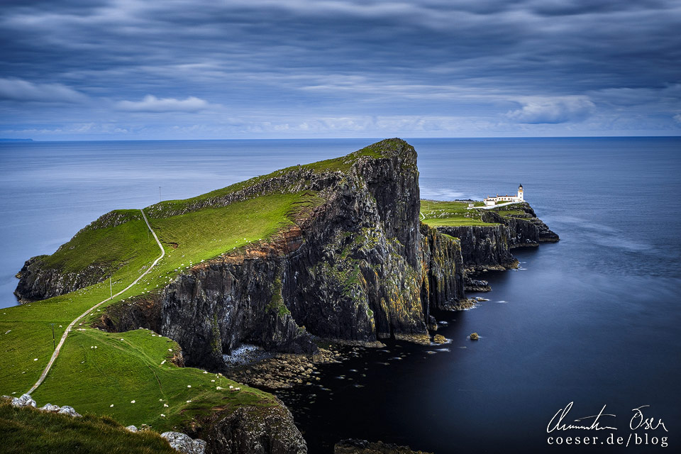 Leuchtturm am Neist Point in Schottland