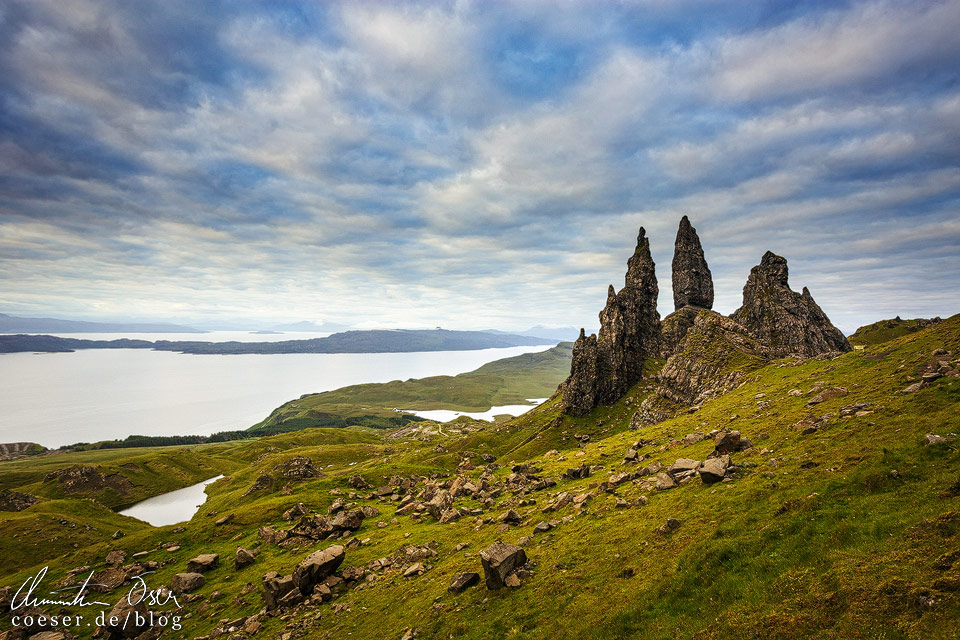 Old Man of Storr zum Sonnenaufgang in Schottland