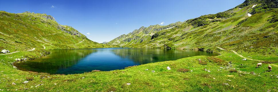 Panorama der Giglachseen nahe der Ursprungalm