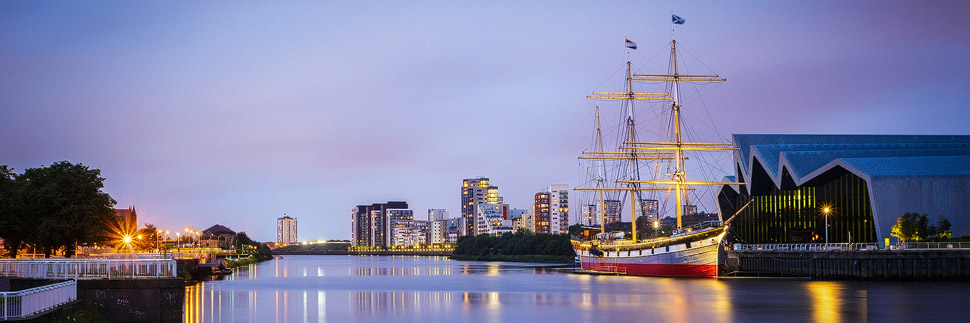 Riverside Museum und Tall Ship in Glasgow