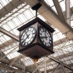 Würfeluhr im Hauptbahnhof Glasgow Central Station