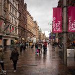 Die Einkaufsstraße Buchanan Street in Glasgow