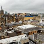 Blick vom Aussichtsturm des Gebäudes The Lighthouse auf Glasgow