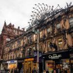 Außenfassade des Einkaufszentrums Princes Square in Glasgow