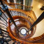 Treppenhaus im Einkaufszentrum Princes Square in Glasgow