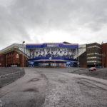 Außenansicht des Ibrox Stadium (Glasgow Rangers)