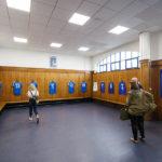 Umkleidekabine im Ibrox Stadium (Glasgow Rangers)