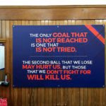 Motivationsspruch in der Umkleidekabine im Ibrox Stadium (Glasgow Rangers)