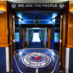 Spielertunnel im Ibrox Stadium (Glasgow Rangers)